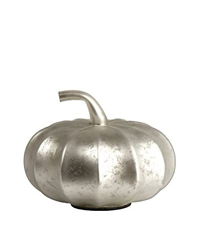 Napa Home and Garden Thanksgiving Pumpkin, Silver Matte