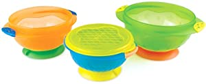 Munchkin 3 Count Stay Put Suction Bowl