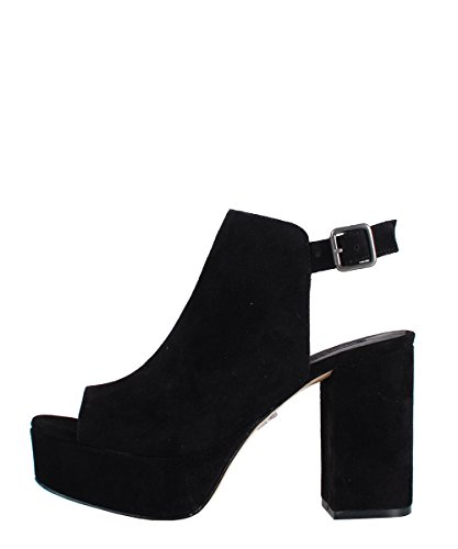Windsor Smith Divine Black Suede - Sandali Da Donna Neri In Pelle Scamosciata
