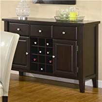 Big Sale Coaster Carter Buffet Style Server in Dark Brown Wood Finish