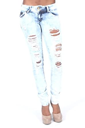 Celebrity Pink Light Wash Ripped Jeans (10)