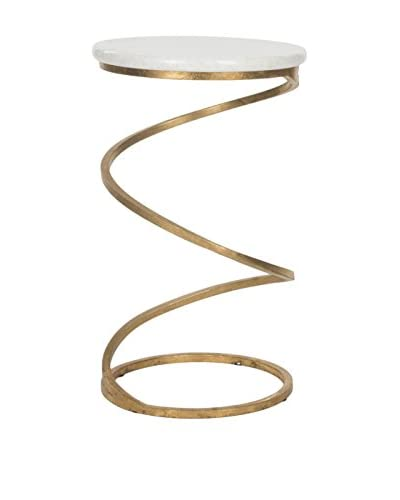 Safavieh Nevina Accent Table, Gold/White