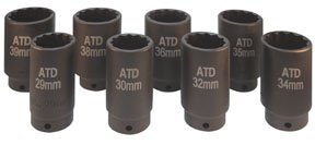 ATD-Tools-8628-12-Point-8-Piece-AxleSpindle-Nut-Socket-Set