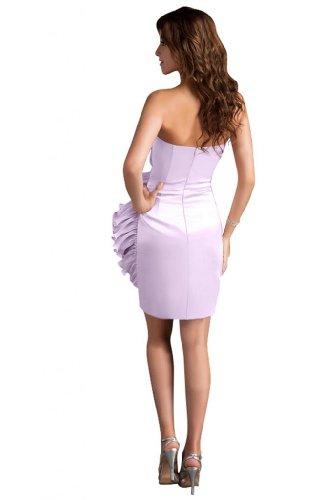 31Fya0KDFzL Sale off: Emma Y Lady Womens Strapless Handmade Flower Short Dress