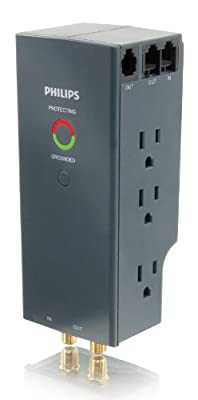 Philips SPP4067A/17 6-Outlet Home Office Surge Protector (Discontinued by Manufacturer)