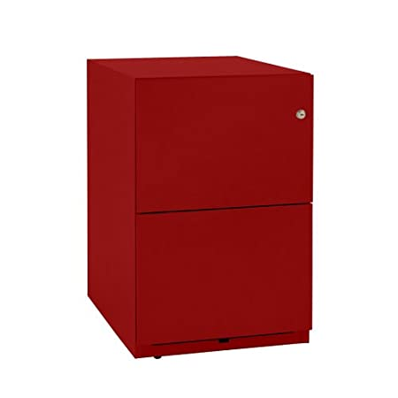 Bisley NWA52M7FF 64 cm Note Pedestal 2 Filing Drawers - Cardinal Red