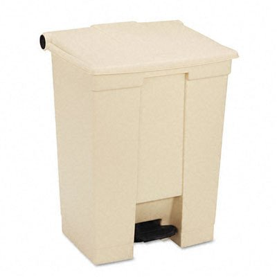 Rubbermaid Commercial RCP614500BG Fire-Safe Step-On Receptacle Rectangular Polyethylene 18 gal., Beige everflo е 608 step beige