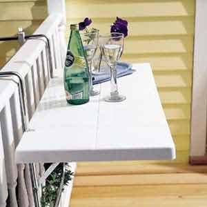 Balkonm bel m bel f r den kleinen balkon aus holz - Mesas para terrazas pequenas ...