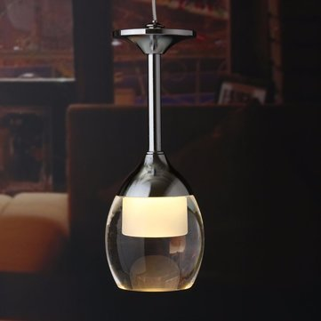 Modern LED Wine Glass Ceiling Light Chandelier Lamp Fixture Pendant Bar Lighting