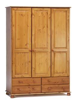 Wessex Pine 3 Door Combination Wardrobe