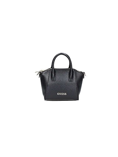 Guess Isabeau Mini Satchel Borsa a Mano, Donna, Nero