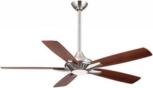 Brushed Nickel 52Inch 5 Blade Indoor Ceiling Fan With Integrated Led Light Kit Model-F1000-Bn