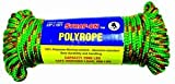 "Boxer Tools 3/8"" X 75ft Strap-on Utility Poly Rope 2000 LBS Capacity"