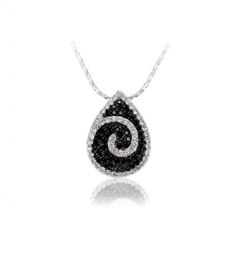 Lifestyle Infinity Black Brass Rhodium Plated Pendant For Women (INF - P204022RB ) (Yellow)