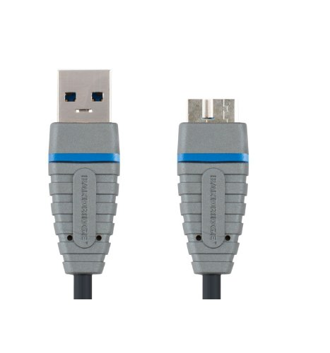 Bandridge 2m Superspeed USB 3.0 A Male to Micro B Male Cable