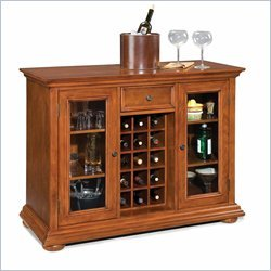 Home Styles Homestead Bar Cabinet in Distressed Warm Oak