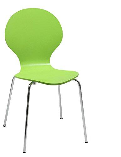 Stuhl-stapelbar-Design-Klassiker-Metall-Holz-sehr-belastbar-Grn