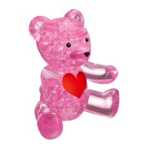 Picture of Beverly Enterprises CRYSTAL PUZZLE Teddy Bear Pink 50118 (B0048GZRY6) (Pegged Puzzles)