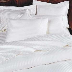 1200 Thread Count Three (3) Piece King Size White Stripe Duvet Cover Set, 100% Egyptian Cotton, Premium Hotel Quality (Hotel Stripe Duvet Cover compare prices)