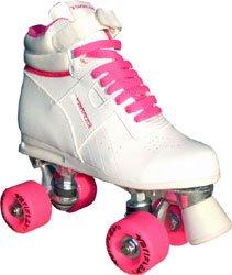 Odyssey White/Pink Quad Roller Skates 8