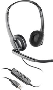 Plantronics Blackwire C220M Headset Microsoft Office Communicator Digital Sound Noise Canceling