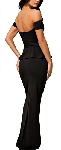 NuoReel-Womens-Drop-shoulder-Peplum-Maxi-Evening-Dress
