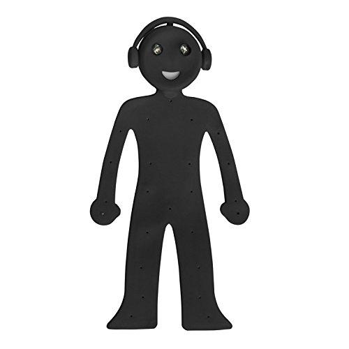 Balvi 25932 Lampe de lecture Liseuse Homme Android Noir LED Silicone