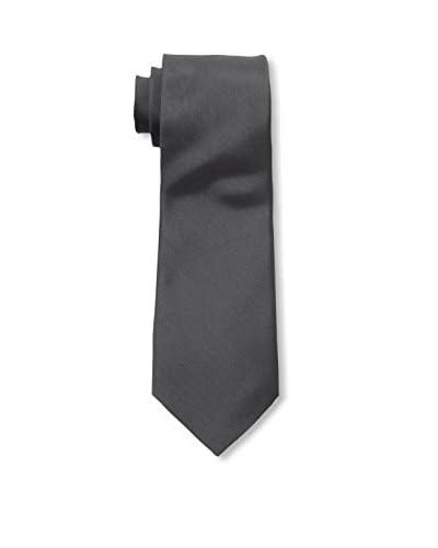 Valentino Men's Solid Woven Tie, Dark Grey