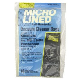 10 Replacement Kenmore Model 5055 / 50557 / 50558 Microlined Bags