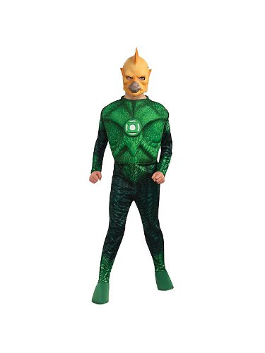 Green Lantern Child's Deluxe Tomar Re Costume With Muscle Chest