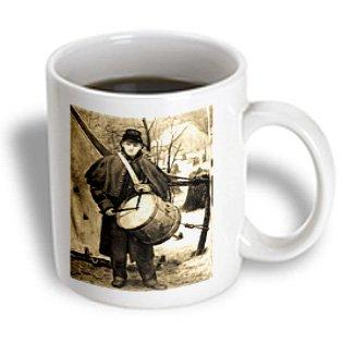 Mug_6747_1 Scenes From The Past Antique Images - Civil War Drummer Boy Sepia Tone - Mugs - 11Oz Mug