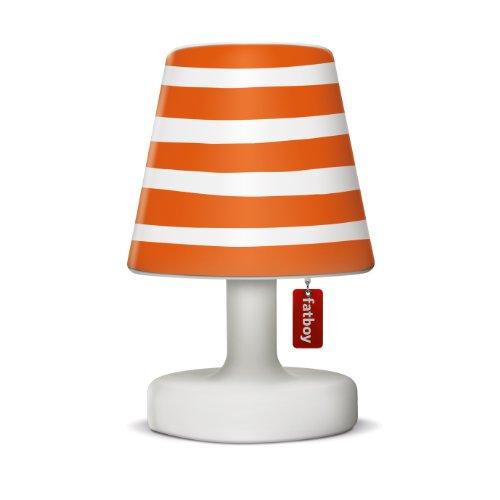 bright orange striped lamp