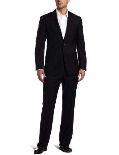 Kenneth Cole Reaction Mens Black Solid Suit Separate Coat,  Black, 38 R
