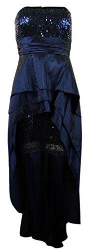 Onyx Nite Women's Ruffle Sequined High-Low Taffeta Dress (12