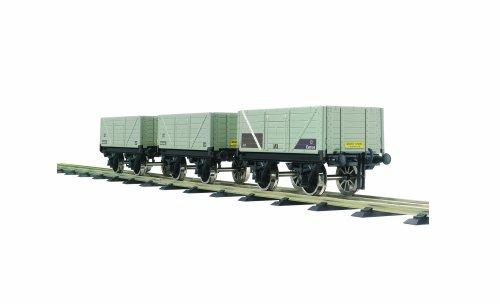 Bassett-Lowke BL99033 3 Pack 0 Gauge BR 7 Plank Coal Wagon