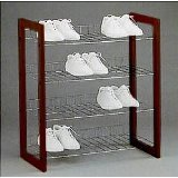 31G B3IHgNL. SL160  1 Four Tier Stackable Cherry Finish Shoe Rack Organizer