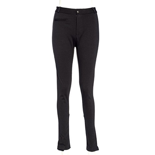 Horse riding supplies ladies zipper denim style riding culotte pants temper / stretching of