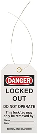 "Brady ""Danger"" Tag, Cardstock, 5-3/4"" Height, 3"" Width"