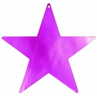 star foil cutout 15 inches -fuchsia - 1