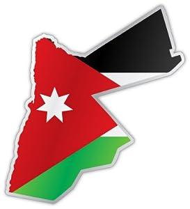 "Amazon.com: Jordan map flag sticker decal 4"" x 4"": Automotive"