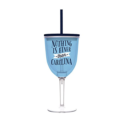 Insulated Wine Glass With Straw front-454132