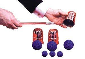 Chop Cup Balls Combo Copper Magic Trick