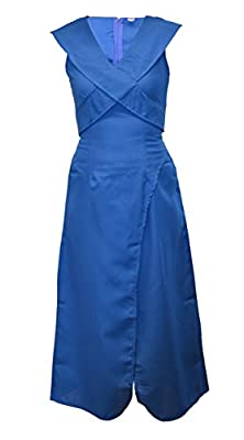 Worldtenda Daenerys Targaryen Khaleesi Dothraki Fancy Dress Costume Game of Thrones Blue Ladies Dragon Halloween Outfit - UK 12-14