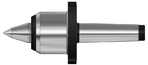 Röhm 304523 Type 640-80 Heavy Tool Steel Standard Revolving Tailstock Center with Draw-Off Nut for High Loads at High Speeds, Morse Taper 6, Size 486, 58mm Point Diameter