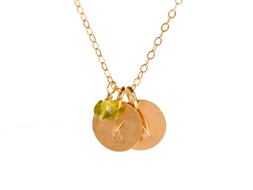 Tiny Gold Custom Two Initial Necklace CHOOSE