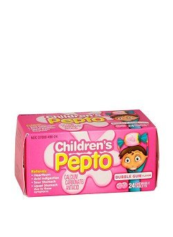 Children's Pepto Calcium Carbonate/Antacid, Chewable Tablets, Bubble Gum Flavor, 24 ct.