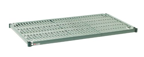 """Metro PR2460NK3 Super Erecta Pro Metroseal 3, Epoxy Coated Polymer, Standard Open Grid Shelf with Removable Mat, 600 lb. Capacity, 1"""" Height x 60"""" Width x 24"""" Length  (Pack of 2)"""