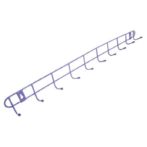 "Water & Wood Wall Mounted 22.8"" Purple Metal 10-Hook Coat Towels Hanger Bracket"