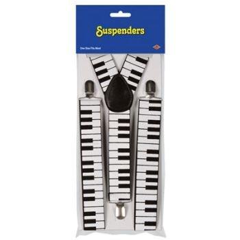 Beistle 60813 1-Pack Piano Keyboard Suspenders