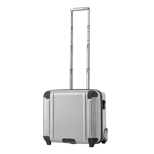 BERMAS SQUAREPRO バーマス スクエアプロ スーツケース 横型 2輪 60250 32L 38cm 1~2泊用 ホワイト